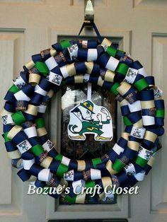 Notre Dame wreath Show your Irish pride by BozuesCraftCloset