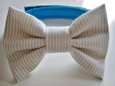 Baby boy Bow Tie with adjustable strap White Pin Stripe by UCbyJ, $16.00