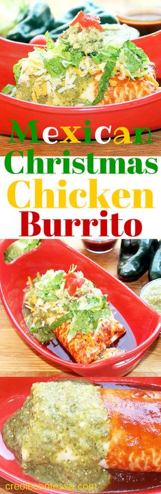Mexican Christmas Chicken Burrito-Creole Contessa #cincodemayo