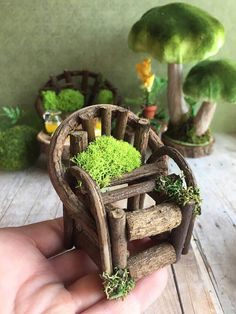 Fiary furniture set miniature fairy tables and couch fae
