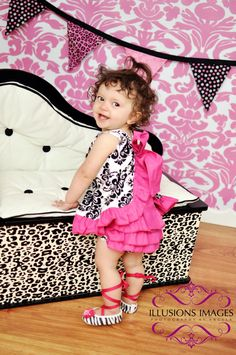Hey, I found this really awesome Etsy listing at http://www.etsy.com/listing/99950203/black-white-pink-damask-ruffled-pinafore