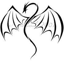 simple dragon tattoo - Google Search