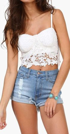 Lace Bustier Top <3