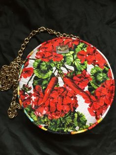 385cf388fe53 Details about brand new with tag Dolce   Gabbana Miss Glam Floral Print Round  Crossbody Bag