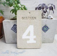 Make your own concrete door sign....DIY! Anleitung für Türschild/Hausnummer aus Beton