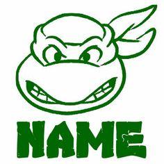 Teenage Mutant Ninja Turtle YOUR Name Custom VINYL Decal Wall Sticker Car TMNT