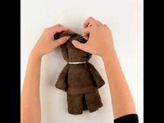 Teddy aus Handtuch Handtuchfigur