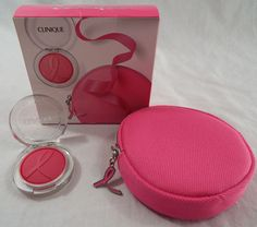 Clinique Berry Cheek Pop Limited Edition with Zipped Case Breast Cancer Charity #Clinique