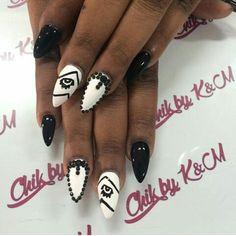 By: Bianca Almond full set with eye and stones design. #nailswag #nails #bossnails #3dart #acrylicnails #nailart #nailartaddict #nailartdesigns #networking #nailworld #nailgasm #nailjunkie  #naildit  #nailgam #nailswag #nailfever #nailmagic #animalprint #nailglam #nailhigh #naillife #nailcrush #nailpassion #kissimmeefl #Kissimmee #Orlando #Miami  #Kissimmeenails #Orlandonails #Miaminails