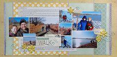 """""""January Walk"""" by Jennifer Larson #scrapbook #layout"""