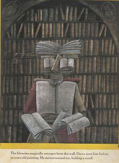 """Peter Sis Illustration from """"Three Golden Keys"""""""