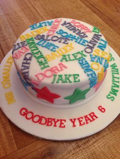 School leavers cake