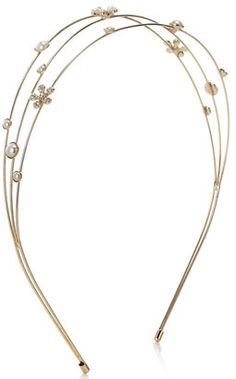 Accessorize Serre-tête formé de trois fils métalliques et orné de jolies fleurs sur shopstyle.fr