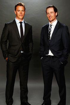 Jonathan Toews and Duncan Keith Chicago Blackhawks.