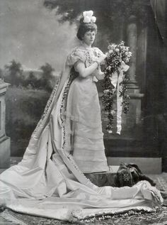 1898, Lady Jemima Laveson, formely Countess of Darnley , née Jemima Adeline Beatrice Blackwood (d 1964) wearing court dress