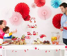 Cute Valentine's Day party invites, recipes, and photo booth print-outs from Family Circle