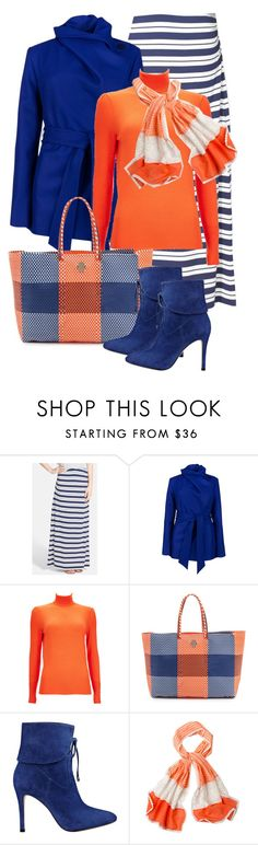 """""""blue & orange"""" by sagramora ❤ liked on Polyvore featuring Caslon, Ted Baker, Wallis, Joie, GUESS and prAna"""