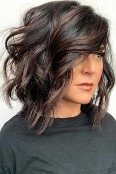 Side Parted Layered Lob ? Layered haircuts are very trendy and quite versatile. Furthermore, they are a grea. : Side Parted Layered Lob ? Layered haircuts are very trendy and quite versatile. Furthermore, they are a grea. Haircuts With Bangs, Layered Haircuts, Layered Lob, Hairstyles Haircuts, Woman Hairstyles, Simple Hairstyles, Holiday Hairstyles, Celebrity Hairstyles, Long Bob Haircuts With Layers