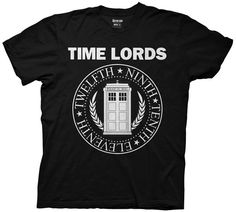 Dr. Who Time Lords Circular Seal Adult T Shirt Sci Fi TV Show