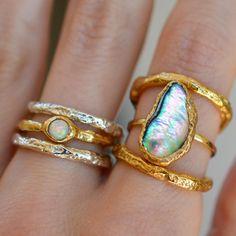 Rainbow ✨ #handmade #rings #colorful #gems #jewelry #rainbow #mermaid #love