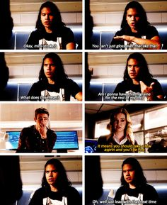 """""""Mini-stroke? You can't just gloss over that like that. What does it mean?"""" - Cisco, Caitlin and Barry #TheFlash"""