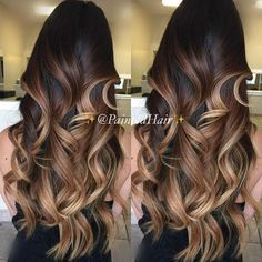 Hair Color And Cut, Ombre Hair Color, Hair Color Balayage, Hair Highlights, Lob Hairstyle, Hairstyles, Hair Painting, Brunette Hair, Hair Looks