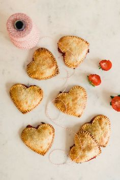 Heart-Shaped Strawberry Hand Pie - 15 Extremely Creative Heart-Shaped Pies For Your Loved Ones