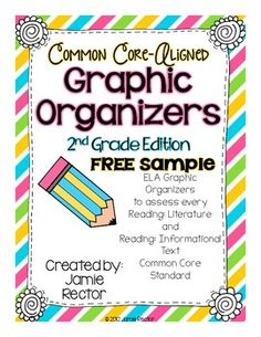 Common Core Standards Graphic Organizers FREE Sample!...4 pages.. English Language Arts, Reading, Literature Grade Levels 1st, 2nd, 3rd, 4th Resource Types Lesson Plans (Individual), Assessment, Graphic Organizers...This FREE download contains a couple of the graphic organizers from my best-selling TpT product: Common Core G...raphic Organizers for Reading. If you like these graphic organizers, then