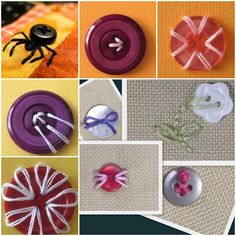 Creative ways to Make Buttons Embroidery | www.FabArtDIY.com LIKE Us on Facebook ==> https://www.facebook.com/FabArtDIY