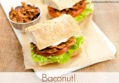 """Baconut"" - the BEST #vegan bacon recipe! www.plantpoweredkitchen.com"
