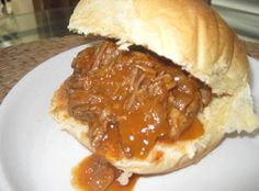 Sweet and Sour Pulled Pot Roast Sammies