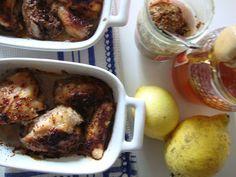 Coxinhas de frango com mel e limão