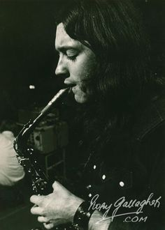Rory playing saxophone
