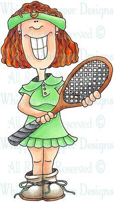 A female tennis player takes a break #cartoon #clipart # ...