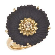 Ring |  Sarah Graham.  18kt gold and cobalt chrome diamond ring