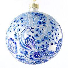 """Fairy Bird"" Hand Painted Christmas Ball. Made in Ukraine. Xmas Ornaments World http://www.amazon.com/dp/B00MGWJ19Q/ref=cm_sw_r_pi_dp_c3dvub013T2Q0"