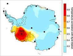 Antartide: qui il riscaldamento è più veloce  La porzione occidentale si starebbe riscaldando a un tasso doppio rispetto a quanto creduto finora  Leggi l'articolo su Galileo (http://www.galileonet.it/articles/50d8444ba5717a661b00006d)  Credits immagine: Julien Nicolas, courtesy of Ohio State University
