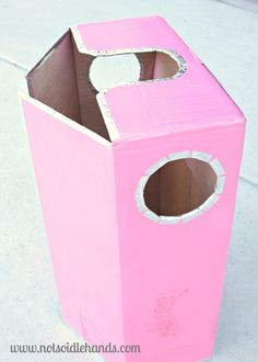 DIY Pink Robot Girl Costume {Or Boy} By: NotSoIdleHands.com