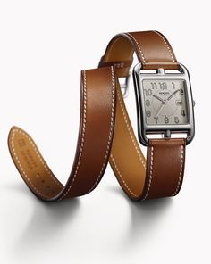Hermes Cape Cod watch with double tour strap.