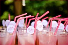 pink lemonade for brunch.