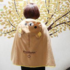 rilakkuma cape. perfect for getting caught in the rain :)