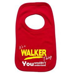 123t USA Baby It's A Walker Thing You Wouldn't Understand Funny Baby Bib