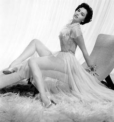 Cyd Charisse in negligee circa 1940s
