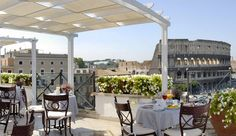 Italy––Rome. Palazzo Manfredi Hotel...Wake up to THIS view. Colosseum...the ancient history...right in front of you when you enjoy morning doppio espresso on the balcony of the hotel...  #JetsetterCurator
