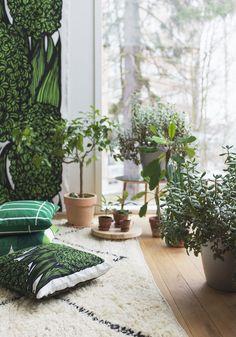 Green living room, Marimekko