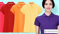 86dddec9ffe64 Women Solid Pique Polo Available in different colors at Giordano stores