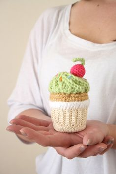 Hand Crocheted Cupcake Green by BeeLiciousCrafts $12.50