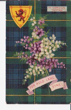 Scotland symbols - tartan, heather, coat of arms