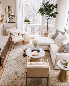 Boho Living Room, Home And Living, Living Room Decor, Living Spaces, Small Apartment Living, Living Room Ideas, Small Living Rooms, Living Room Inspiration, Home Decor Inspiration