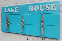 Wall Rack  Boat Cleat  Boat Cleat Wall Decor  by LaurenAnnaLei, $48.00
